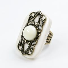 Jan Michaels Elizabethan Ring in White Bone - product images 1 of 5