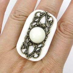 Jan Michaels Elizabethan Ring in White Bone - product images 5 of 5