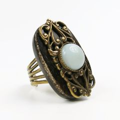 Jan Michaels Elizabethan Ring in Brown Bone TALICH