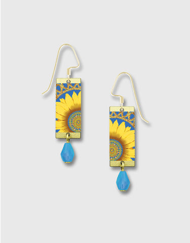 Lemon,Tree,-,Sunflower,Long,Rectangle,Earrings,Lemon Tree Earrings Colorado, Lemon Tree Earrings Sunflower
