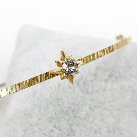 Catherine,Popesco,Gold,Bangle,with,Stars,in,Clear,Catherine Popesco Bracelet, La Vie Parisienne Bracelet, Catherine Popesco Jewelry, Catherine Popesco Paris