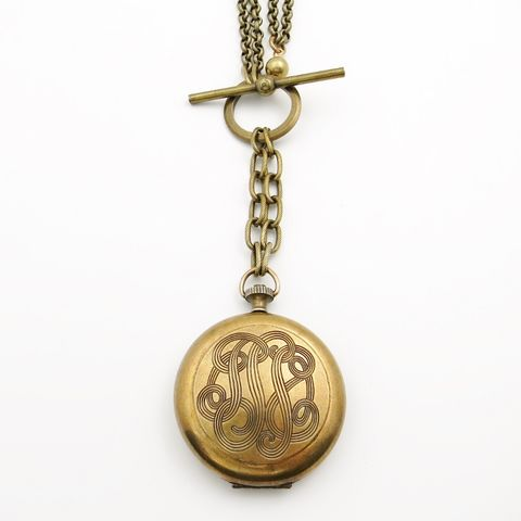Jan,Michaels,Monogram,Locket,Front,Toggle,Necklace,Jan Michaels Monogram Locket Front Toggle Necklace, Jan Michaels necklace, Jan Michaels Jewelry on sale