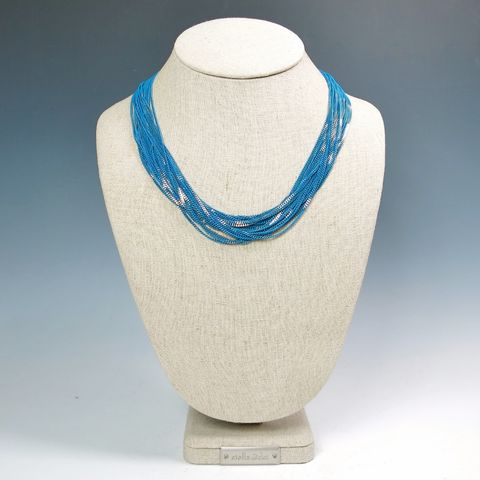 Amy,Kahn,Russell,-,Enameled,Liquid,Chain,Long,Necklace,in,Turquoise,Amy Kahn Russell Necklace, Amy Kahn Russell Liquid Brass Necklace, Amy Kahn Russell, Amy Kahn Russell jewelry