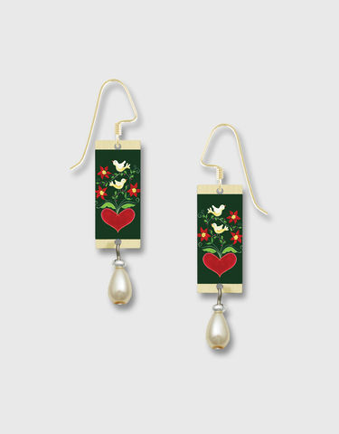 Lemon,Tree,-,Red,Heart,White,Dove,Print,Long,Rectangle,Earrings,Lemon Tree Earrings Colorado, Lemon Tree Earrings Mountain Moose
