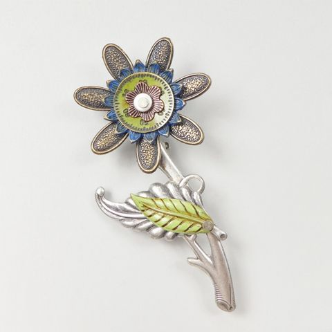 Mullanium,-,Flower,Pin,Mullanium Flower Pin, Mullanium by Jim and Tori, Mullanium Art, Mullanium pin