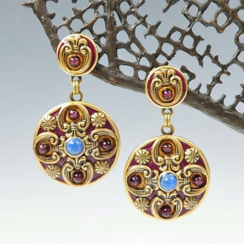 Michal,Golan,-,Lazuli,Disc,Drop,Earrings,Michal Golan Lazuli Collection, Michal Golan Lazuli Disc Drop Earrings