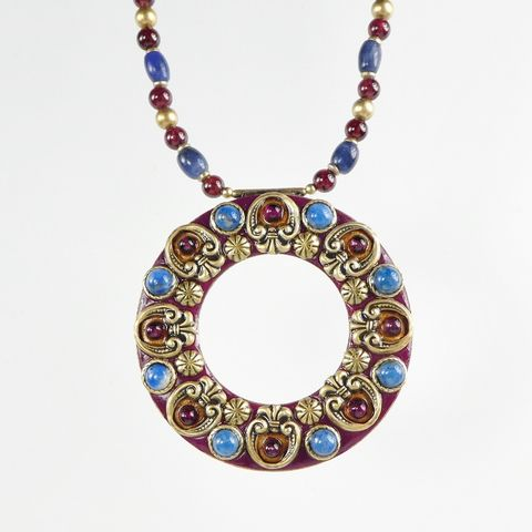 Michal,Golan,-,Lazuli,Open,Circle,Necklace,Michal Golan Lazuli Collection, Michal Golan Lazuli Open Circle Necklace