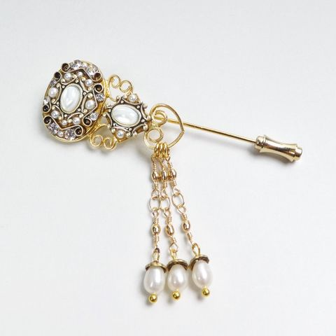 Michal,Golan,-,Elegante,Dangle,Pin,Michal Golan Elegante Dangle Pin