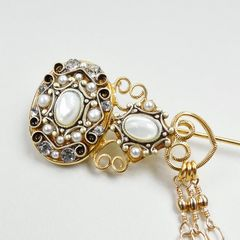 Michal Golan - Elegante Dangle Pin - product images 2 of 6