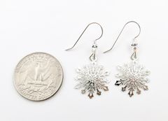 Sienna Sky Earrings - Filigree Snowflake with Crystal Beads - product images 5 of 5