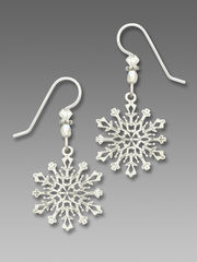Sienna Sky Earrings - Filigree Snowflake with Crystal Beads - product images 1 of 5