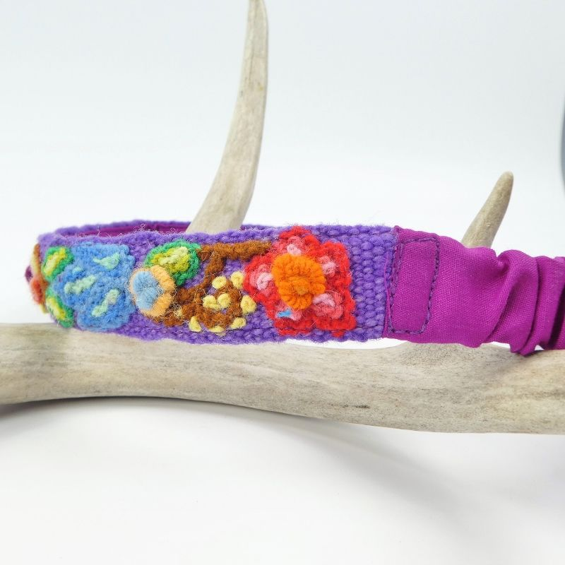 Jenny Krauss Embroidered Headband - Purple - product image