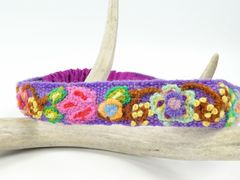 Jenny Krauss Embroidered Headband - Purple - product images  of