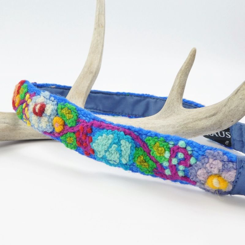Jenny Krauss Embroidered Headband - Blue - product image
