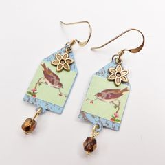 Lemon Tree - House of Sparrow Etched Brass Earrings - product images 4 of 5