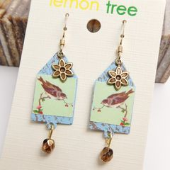 Lemon Tree - House of Sparrow Etched Brass Earrings - product images 3 of 5
