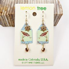 Lemon Tree - House of Sparrow Etched Brass Earrings - product images 2 of 5