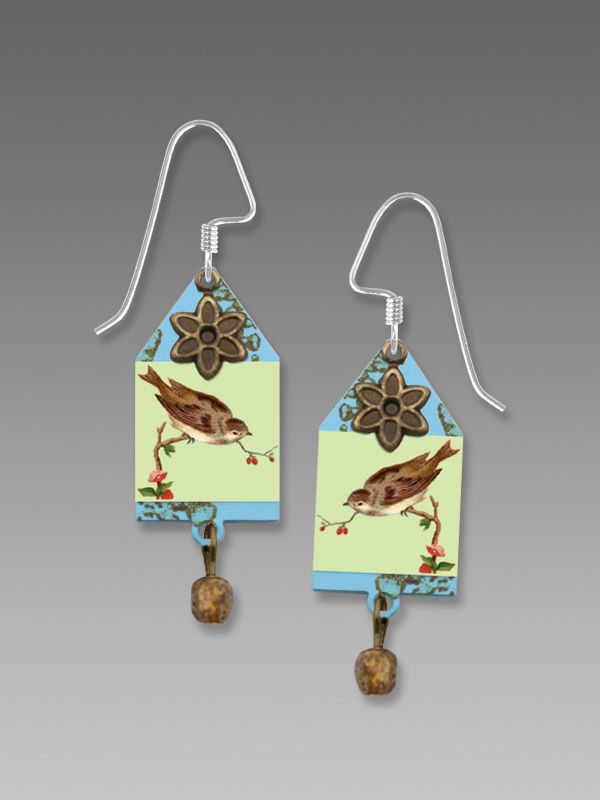 Lemon Tree - House of Sparrow Etched Brass Earrings - product image