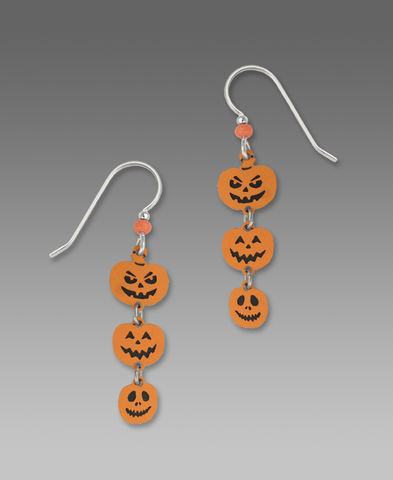 Sienna,Sky,Post,Earrings,-,Triple,Halloween,Pumpkins,Sienna Sky Earrings,  Sienna Sky Pumpkin Earrings, Sienna Sky 1431