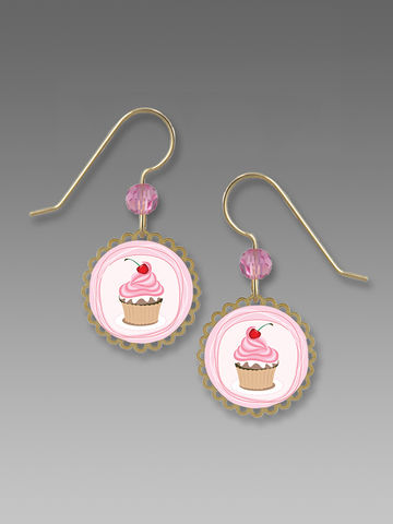 Sienna,Sky,Earrings,-,Pink,Cupcake,Sienna Sky Earrings,  Sienna Sky Cupcake Earrings, Sienna Sky 2061