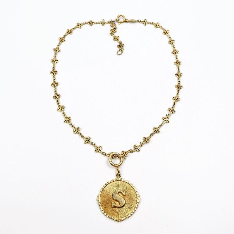 Catherine Popesco Initial Medallion Pendant Necklace S