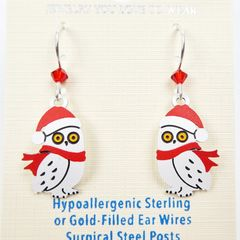 Sienna Sky Earrings - Owl with Scarf and Santa Hat - product images 3 of 5