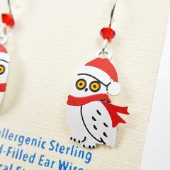 Sienna Sky Earrings - Owl with Scarf and Santa Hat - product images 4 of 5