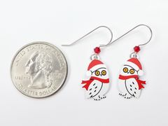 Sienna Sky Earrings - Owl with Scarf and Santa Hat - product images 5 of 5