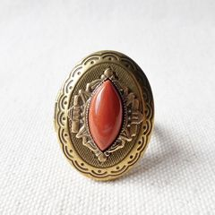 Jan Michaels Marquise Locket Ring with Red Brecciated Jasper - product images 2 of 5