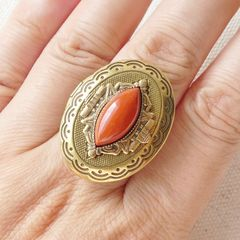 Jan Michaels Marquise Locket Ring with Red Brecciated Jasper - product images 5 of 5