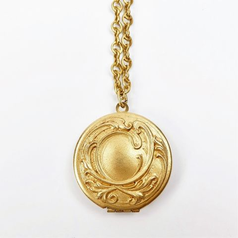Catherine,Popesco,Gold,Nouveau,Style,Locket,Necklace,Catherine Popesco Gold Nouveau Style Locket Toggle Necklace, La Vie Parisienne Necklace, Catherine Popesco Jewelry, Catherine Popesco Paris