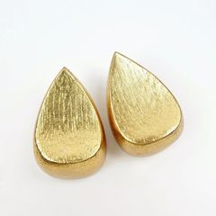 Monies - Gold Foil Chunky Teardrop Clip Earrings - product images 4 of 9
