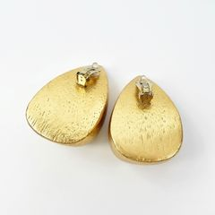 Monies - Gold Foil Chunky Teardrop Clip Earrings - product images 7 of 9