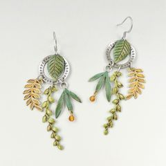 Mullanium Earrings - Date Wheel and Leaves - product images 2 of 5