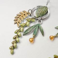 Mullanium Earrings - Date Wheel and Leaves - product images 3 of 5