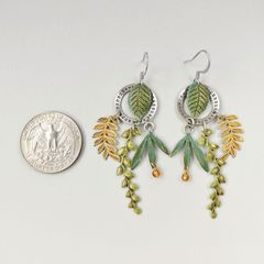 Mullanium Earrings - Date Wheel and Leaves - product images 4 of 5