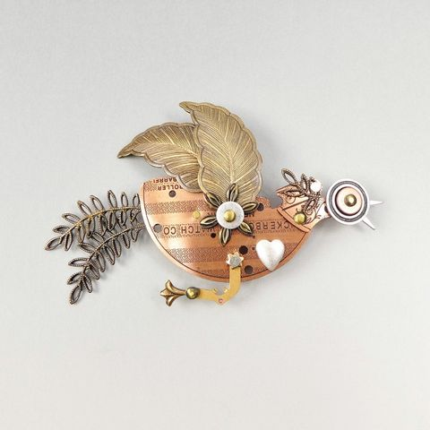 Mullanium,-,Flying,Bird,Pin,Mullanium Flying Bird Brooch, Mullanium pin