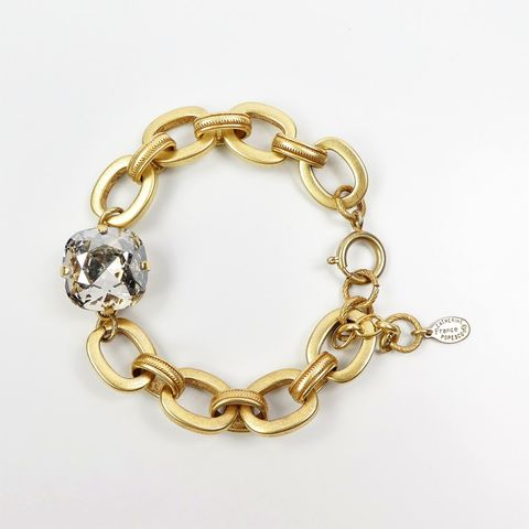 Catherine,Popesco,Linked,Chain,Bracelet,with,Large,Swarovski,Crystal,in,Shade,La Vie Parisienne Bracelet, Catherine Popesco Jewelry, Catherine Popesco Paris