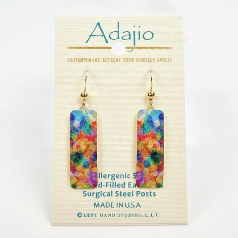 Adajio,Earrings,-,Colorful,Tie,Dye,Column,Adajio Earrings, Adajio earrings Sienna Sky, Adajio Jewelry, Adajio Colorado, Adajio 7956