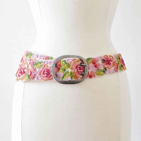 Jenny,Krauss,Floral,Delight,Belt,Jenny Krauss Floral Delight Belt, jenny krauss embroidered peruvian belt, Jenny Krauss wool embroidered belt