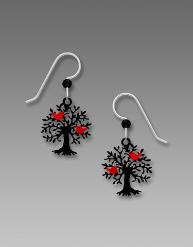 Sienna,Sky,Earrings,-,Tree,of,Life,with,Red,Birds,Sienna Sky Earrings, Adajio earrings Sienna Sky, Etched Brass Earrings, Snowflake earrings