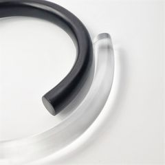 Monies - Clear Acrylic and Black Ebony Hinged Collar Necklace - product images 3 of 7