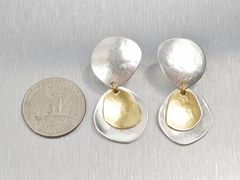 Marjorie Baer Hammered Organic Disc with Layer Discs Earrings - product images 4 of 8