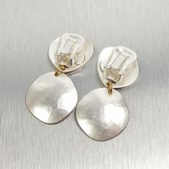 Marjorie Baer Hammered Organic Disc with Layer Discs Earrings - product images 6 of 8