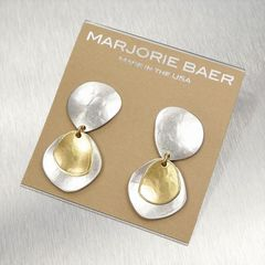 Marjorie Baer Hammered Organic Disc with Layer Discs Earrings - product images 7 of 8