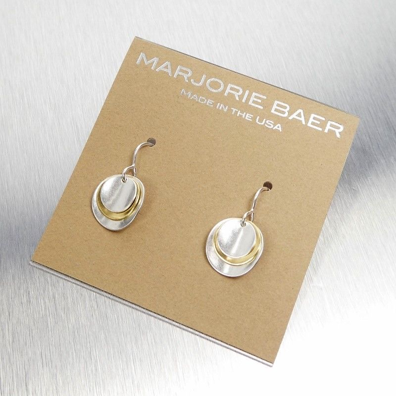 Marjorie Baer Two Tone Stacked Disc Earrings - product image
