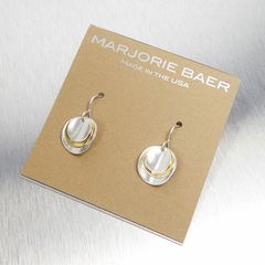 Marjorie Baer Two Tone Stacked Disc Earrings - product images 5 of 5