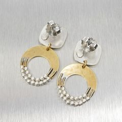 Marjorie Baer Rounded Square with Crescent and Beads Earrings - product images 7 of 9