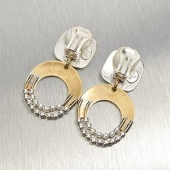 Marjorie Baer Rounded Square with Crescent and Beads Earrings - product images 6 of 9