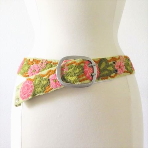 Jenny,Krauss,Garden,Trellis,Belt,Jenny Krauss Garden Trellis  Belt, jenny krauss embroidered peruvian belt, Jenny Krauss wool embroidered belt